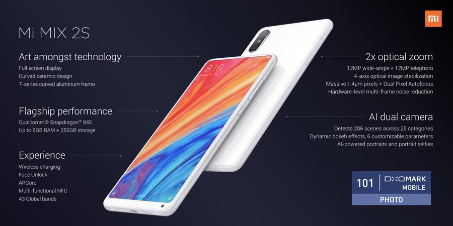 Xiaomi Mi MIX 2S key specs