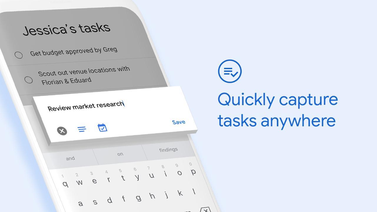 Google Tasks app screenshot