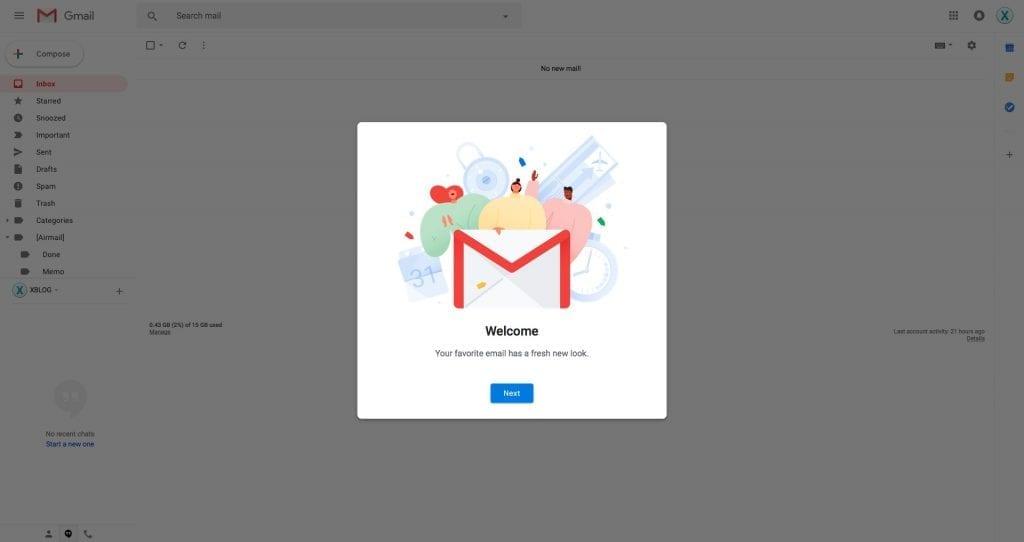 New Google Gmail 2018