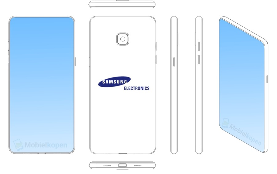 Samsung full screen smartphone patent