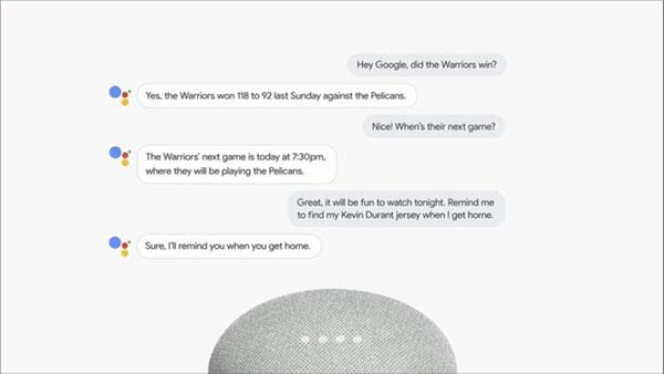 Google Assistant conversation