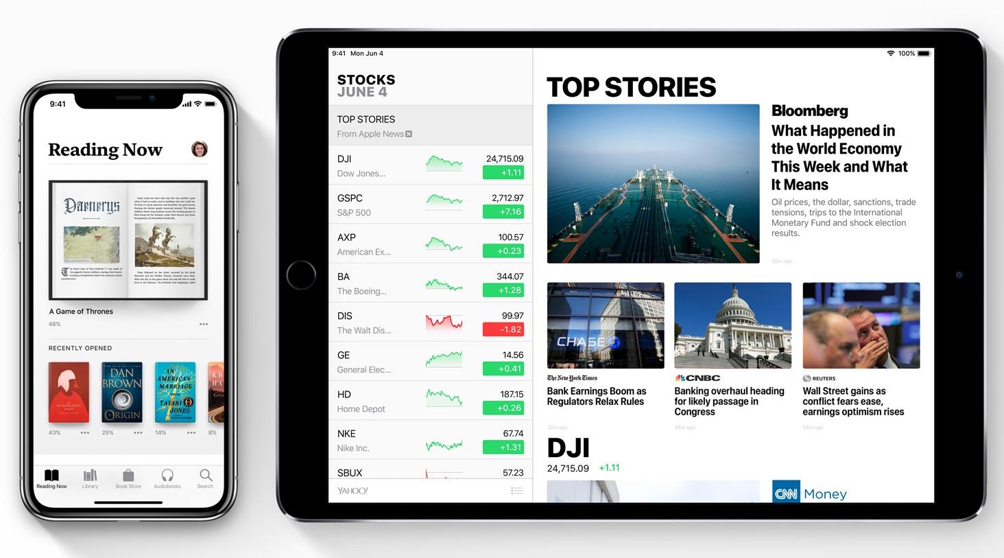Apple iOS 12 Apple Books iPad Stocks