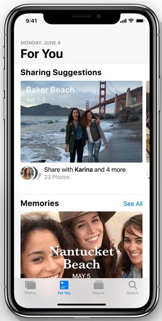 Apple iOS 12 For You Photos