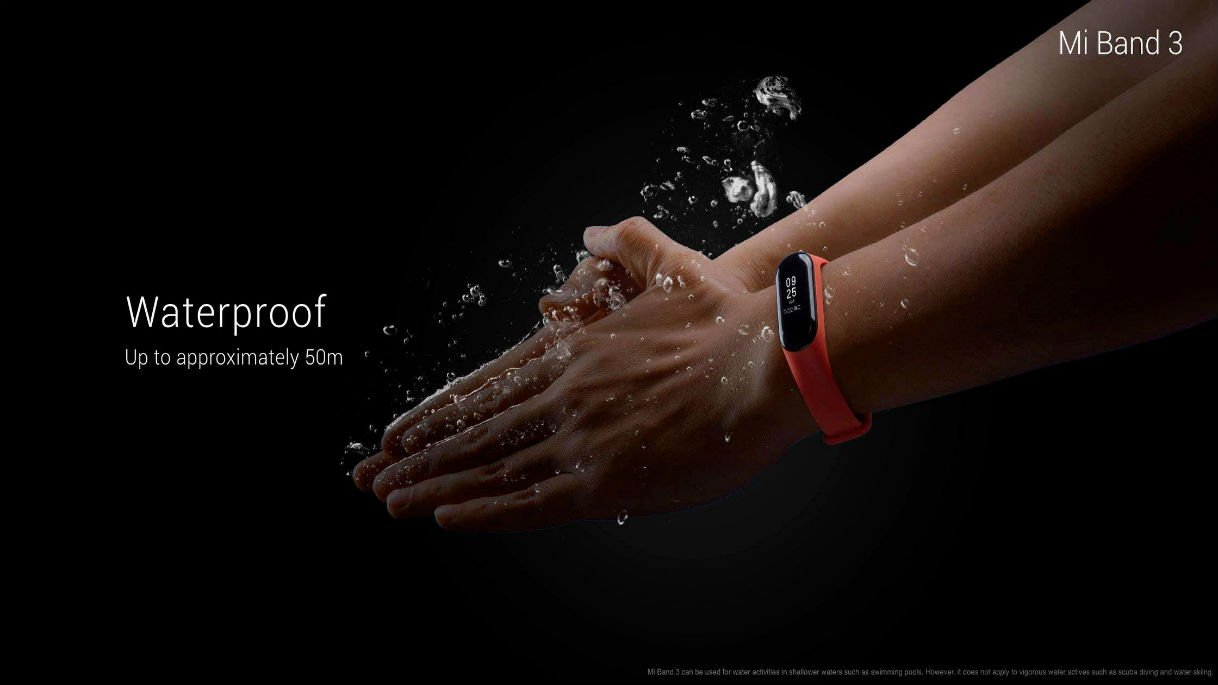 Xiaomi Mi Band 3 waterproof