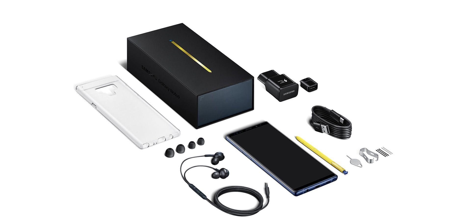 Samsung Galaxy Note9 packaging
