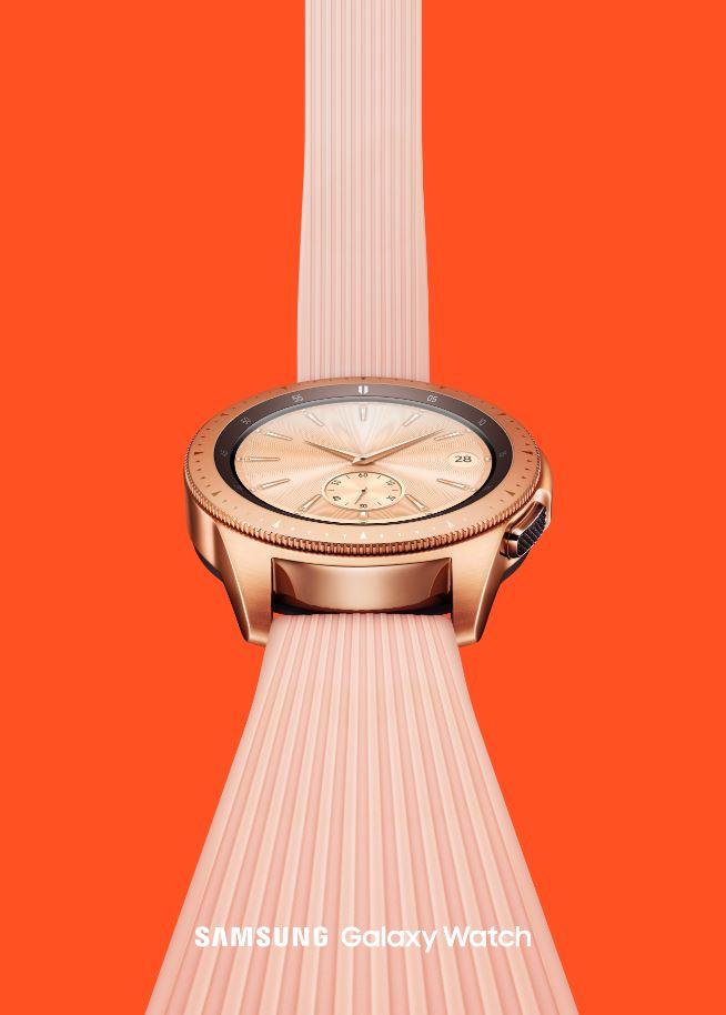 Samsung Galaxy Watch pink hero