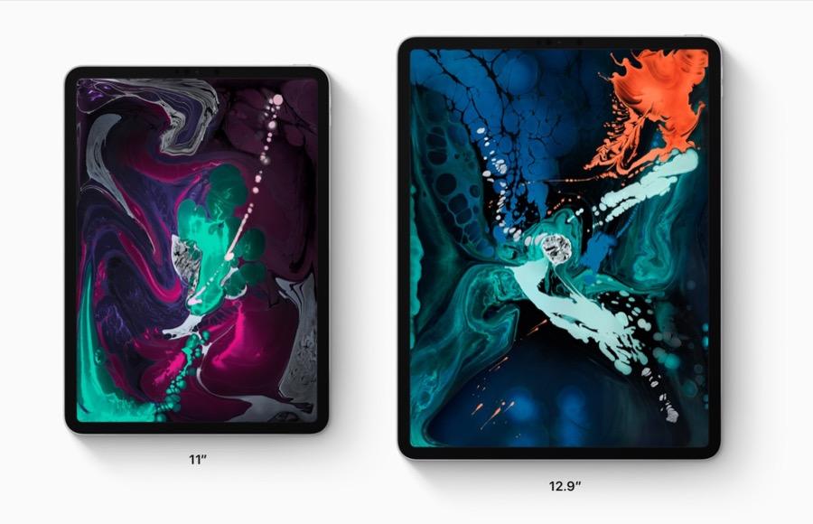 Apple iPad Pro 2018 3rd gen sizes