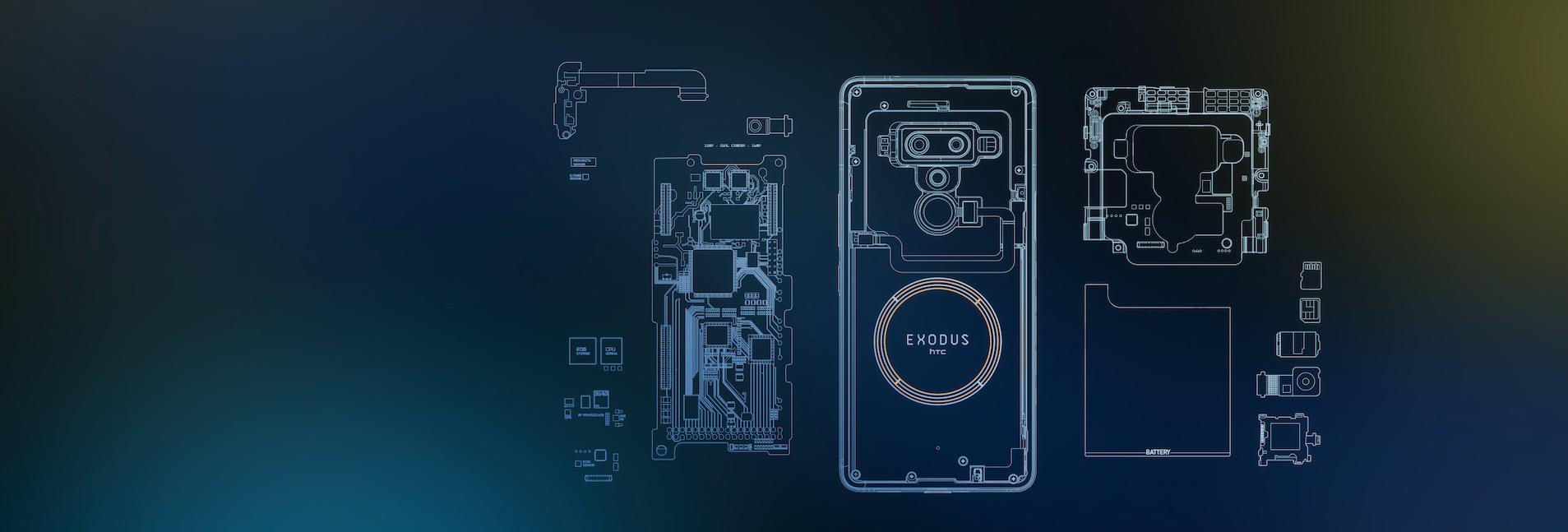 HTC Exodus 1 internals sketch