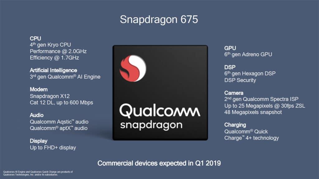 Qualcomm Snapdragon 675 specs
