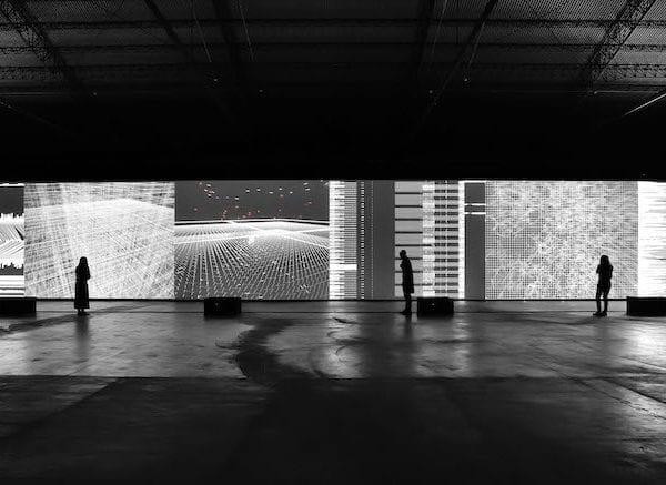 COSMOTE digital art data flux 12XGA version Audiovisual installation 2019