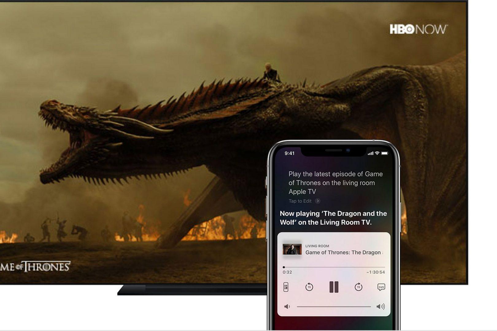 Apple iOS 12.2 Ask Siri to play video on Apple TV