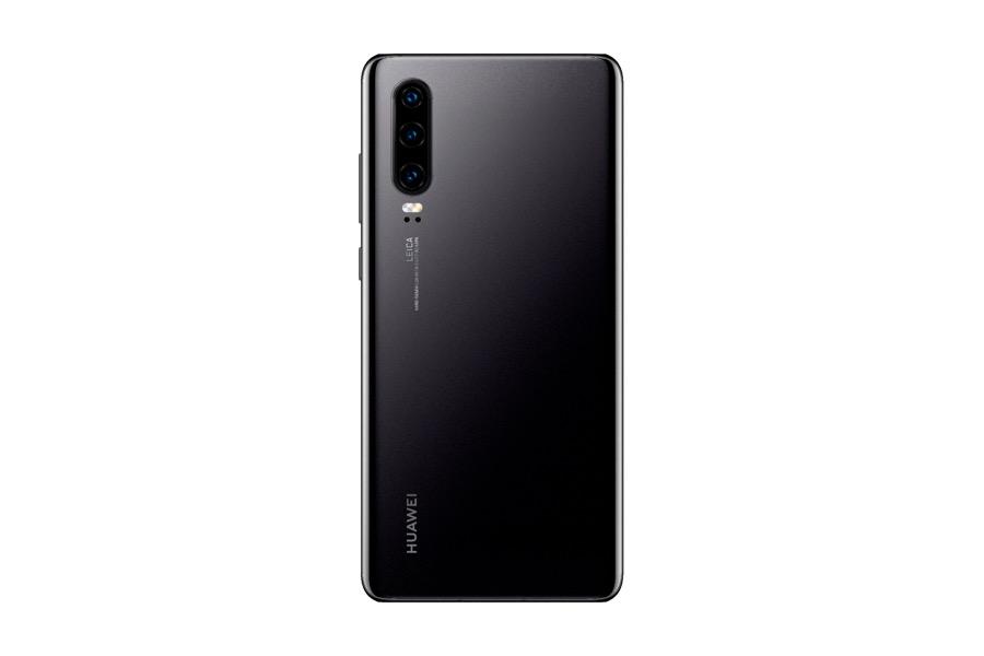 Huawei P30 Elle Black rear