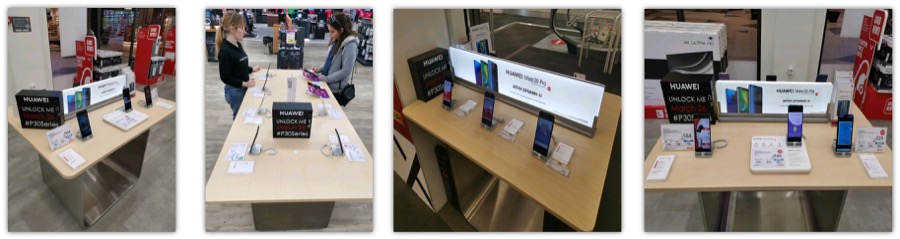 Huawei P30 mystery boxes in greek stores