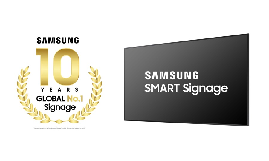 Samsung 10 years no.1 in digital signage (2)