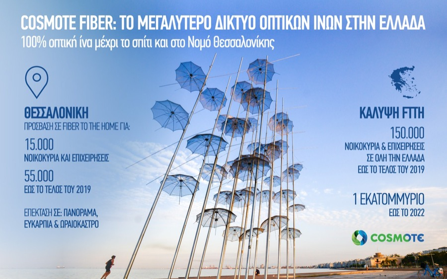 infographic COSMOTE FTTH Thessaloniki