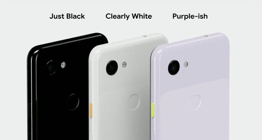 Google Pixel 3a colors