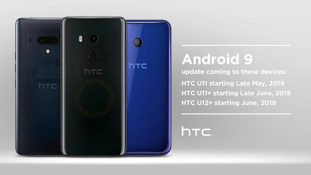 HTC U11 U12+ Android 9 Pie update