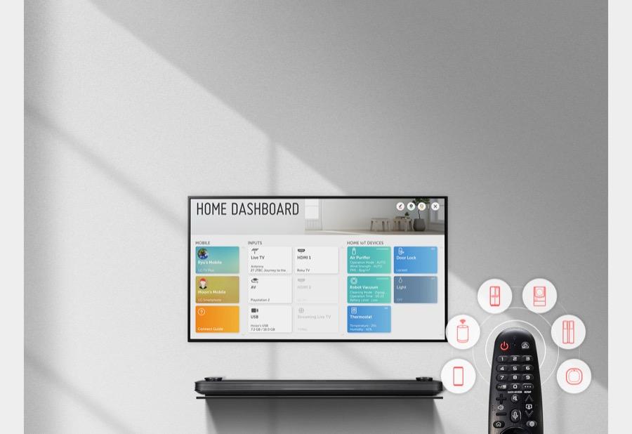 LG Home dashboard