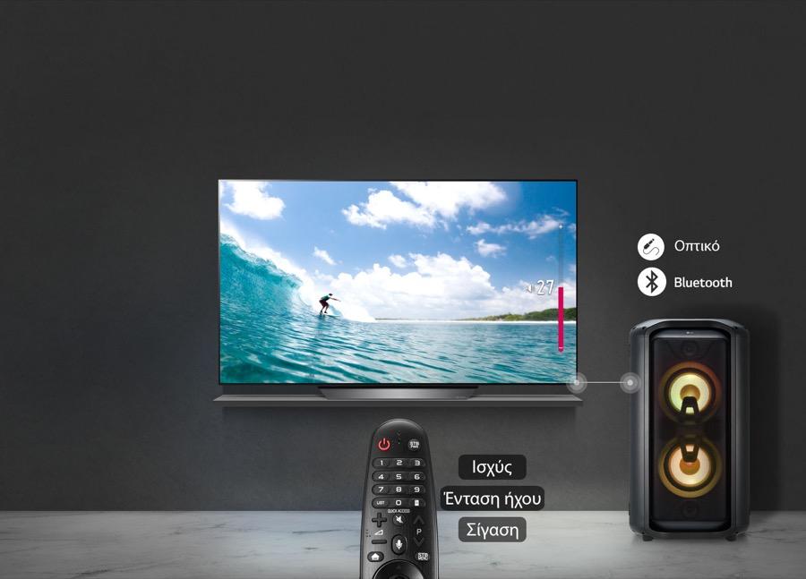 LG XBOOM RK7 TV sound sync