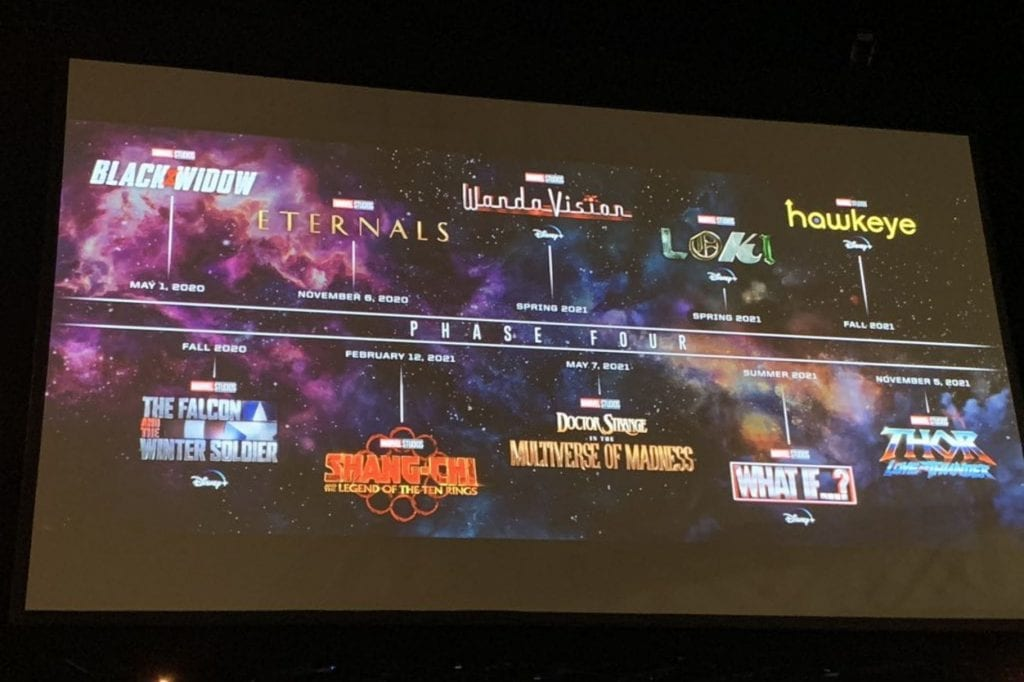 Marvel MCU Phase 4 movies TV series