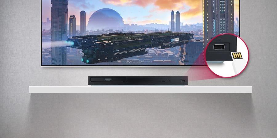 LG Blu ray player UBK80 USB