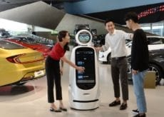 LG and Hyundai Collaboration cloi guidebot