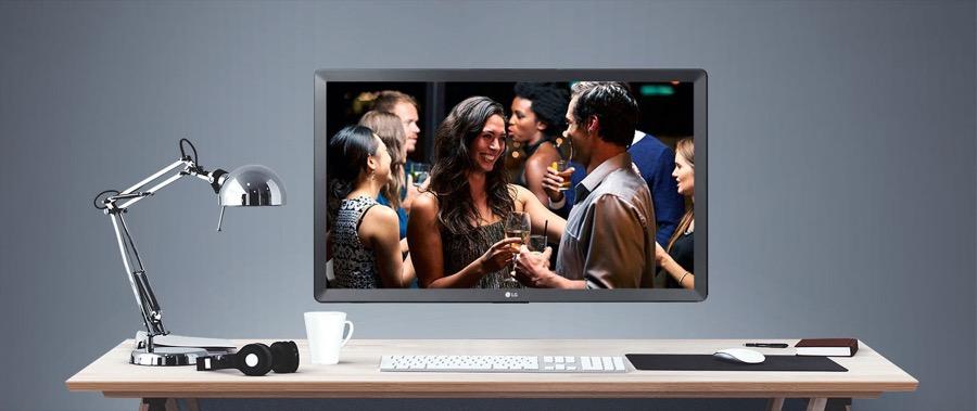 LG TV monitor wall mounted