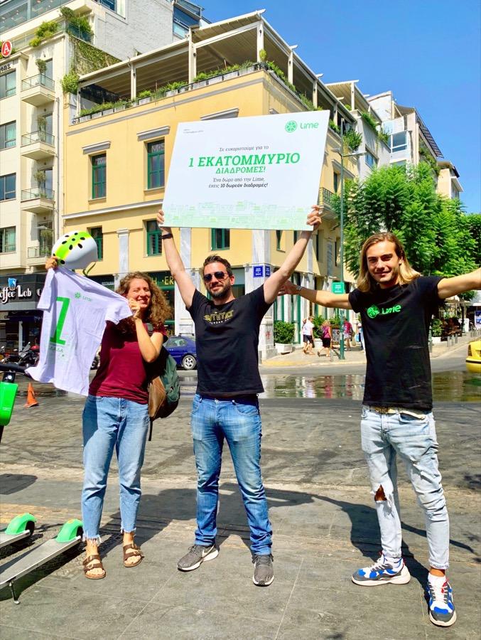 Lime 1 million rides Greece