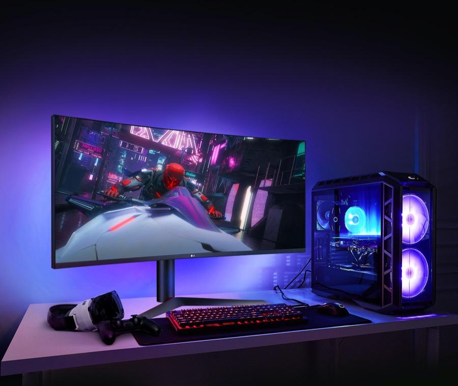 LG UltraGear Nano IPS gaming monitor 38GL950G B sphere lighting 2.0