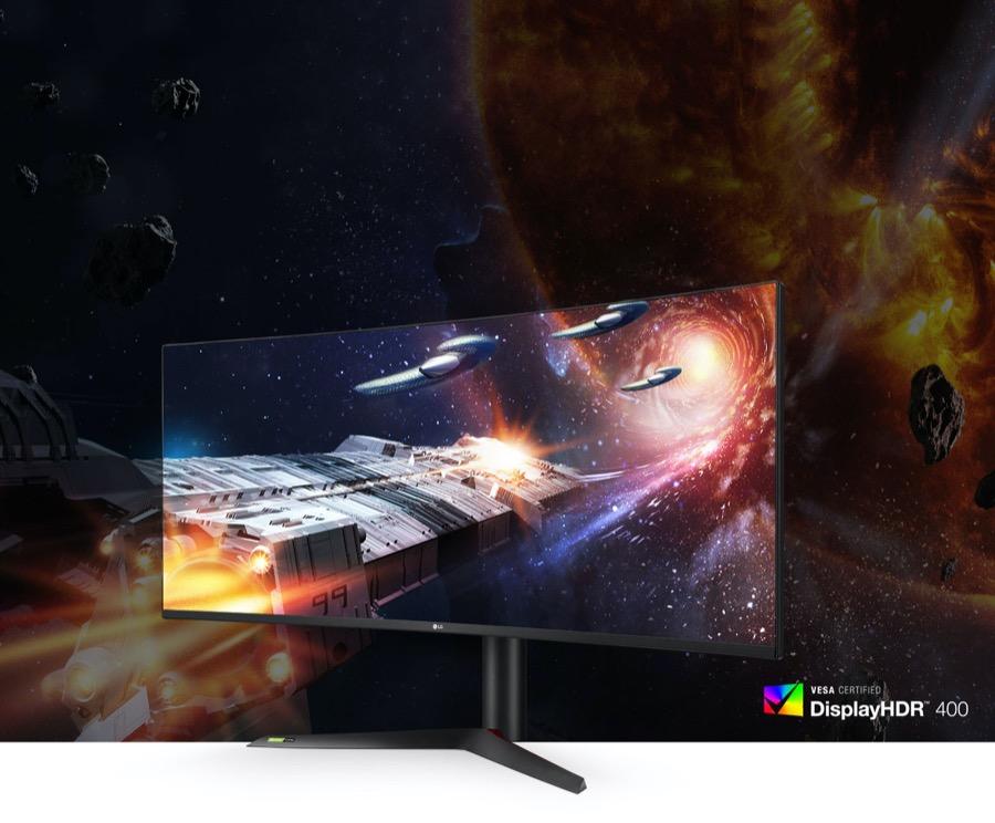 LG UltraGear Nano IPS gaming monitor 38GL950G B vesa display HDR 400