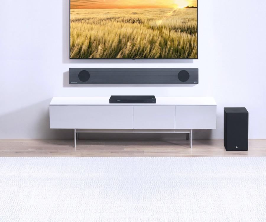 LG Soundbars with meridian technology