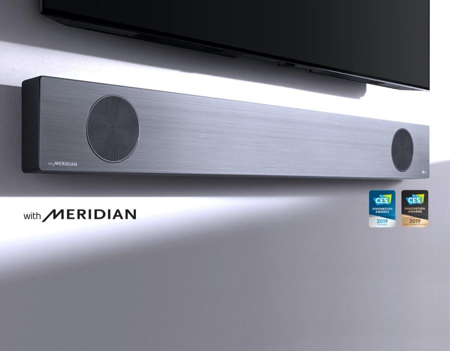 LG SL9Y soundbar meridian technology