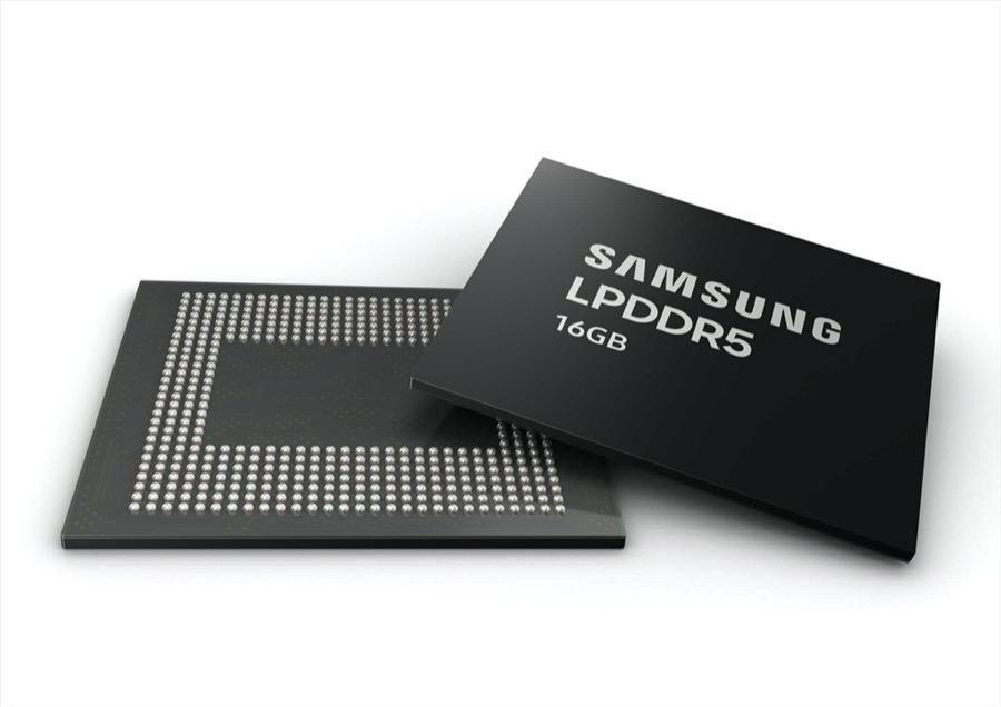 Η Samsung ξεκινά τη μαζική παραγωγή της πρώτης 16GB LPDDR5 DRAM