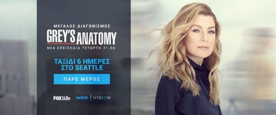 WIND Vision diagonismos Grey's Anatomy