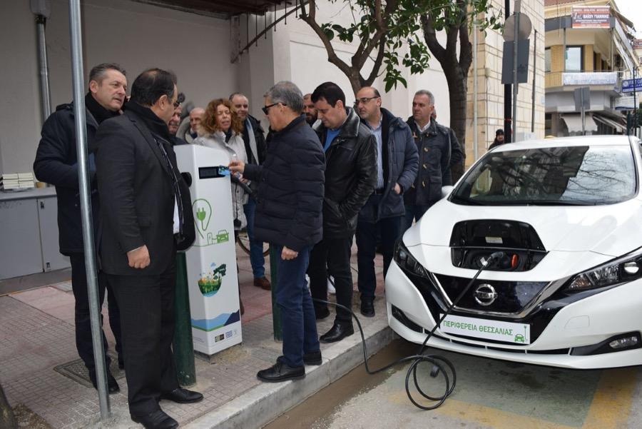 Σταθμός φόρτισης ηλεκτρικών αυτοκινήτων στη Καρδίτσα