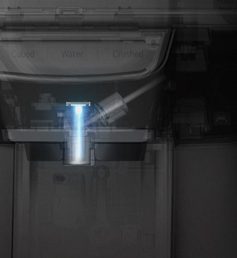 Φρέσκο νερό απευθείας από το νέο ψυγείο της LG