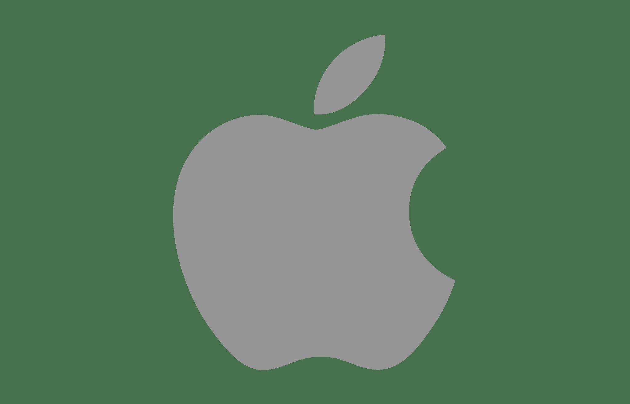 Apple Logo Grey