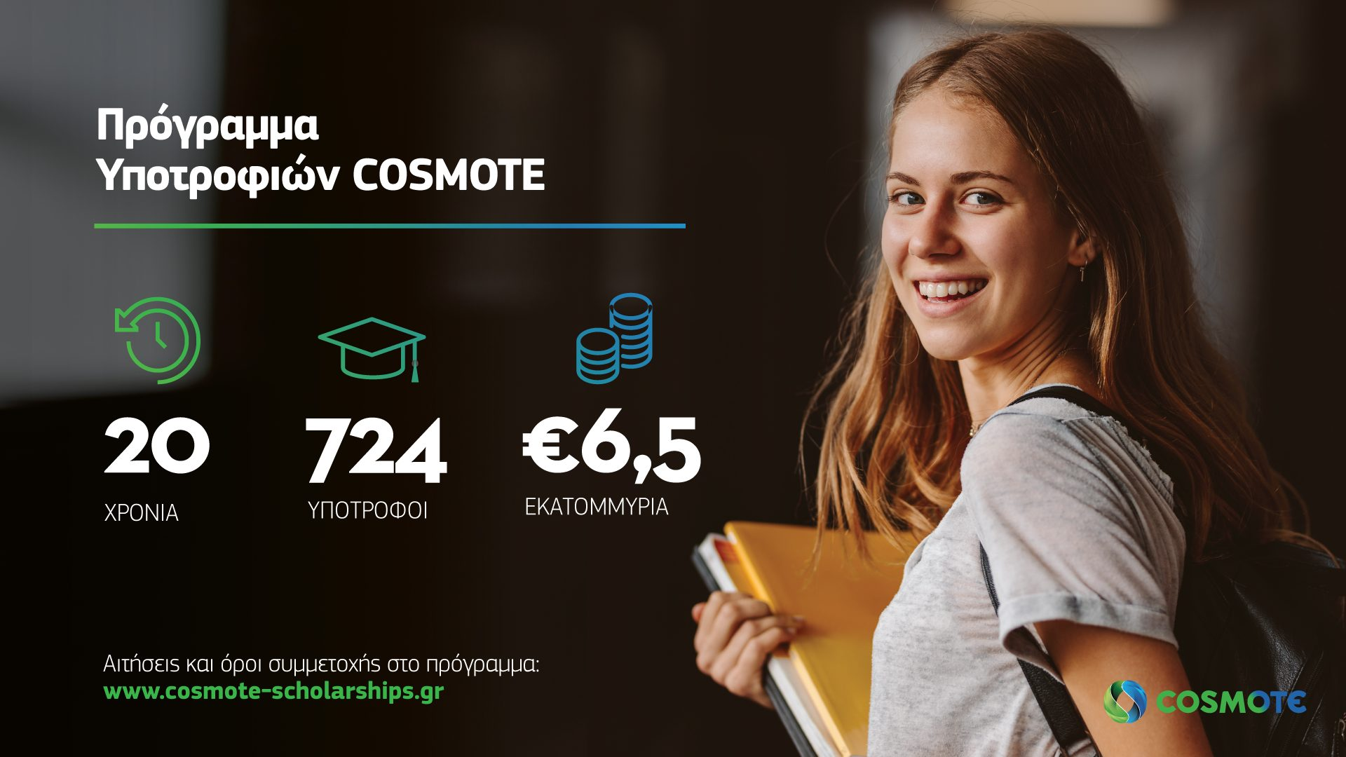 COSMOTE Scholarships Infographic Sep2021
