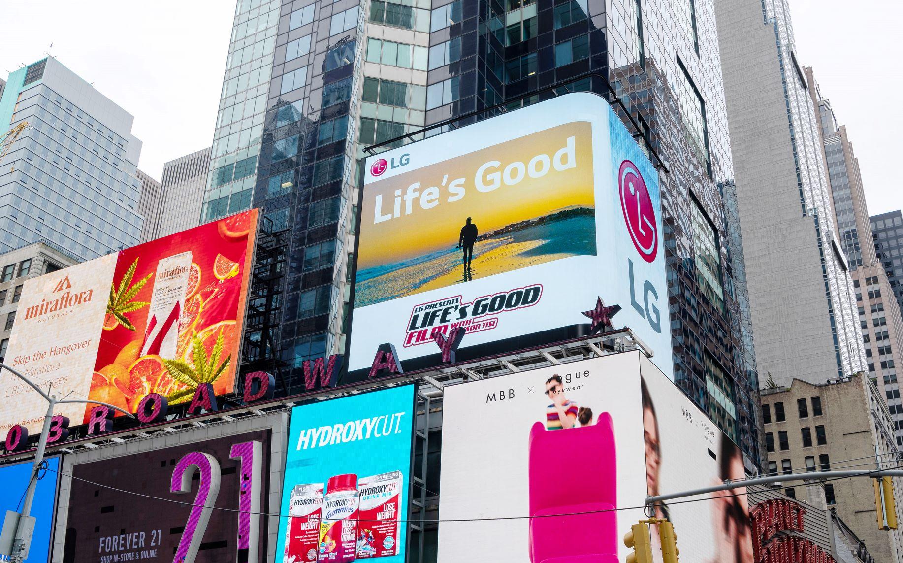 Lifes Good Film New York City Times Square